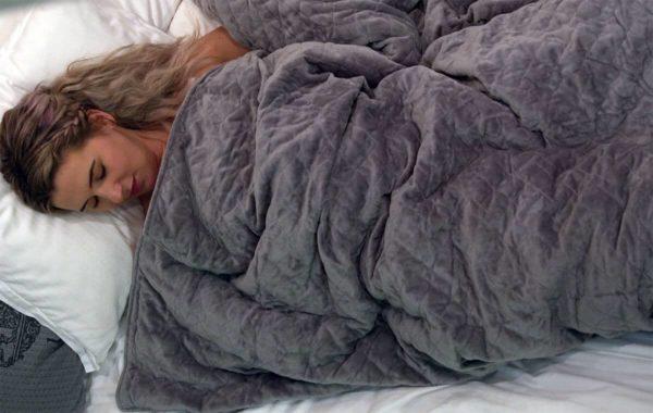 Mysöverdrag i microfiber grå. Closer vikttäcke tyngdtäcke 5kg 7kg 9kg 11kg för bättre sömn och sömnproblem. Adhd autism asperger syndrom. Gjort i vit bomullglaspellets 150x200cm